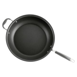 Anolon Advanced Hard-anodized Nonstick 14-inch Grey Skillet with Helper Handle