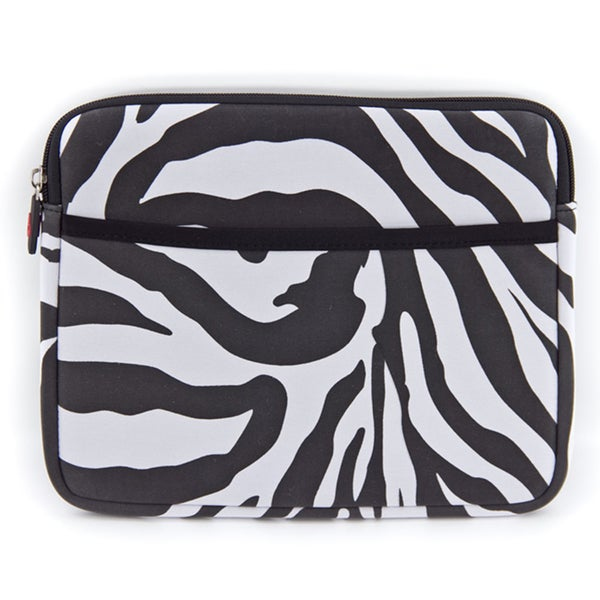 Kroo Apple iPad 2nd and 3rd Gen Zebra Print Carrying Case