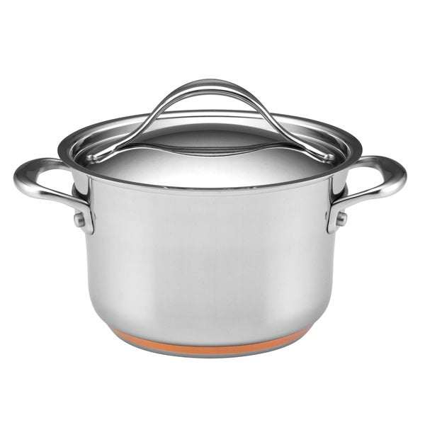 Anolon Nouvelle Copper Grey 3.5-Quart Covered Saucepot