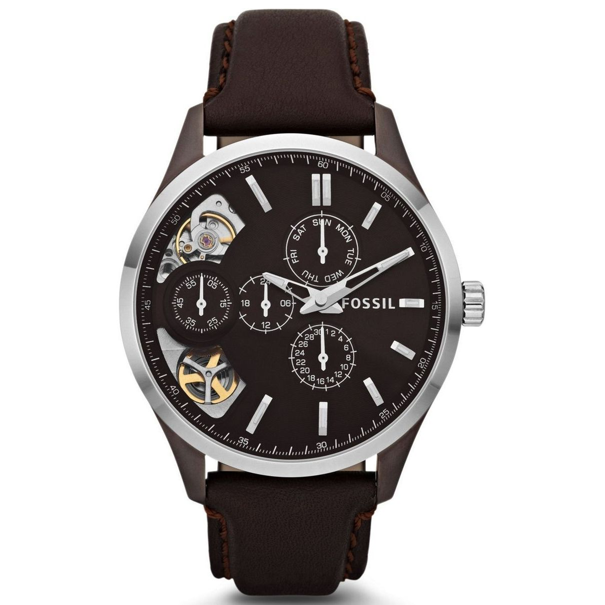 Fossil Men's Stainless Steel 'Twist' Automatic Watch (ME1...