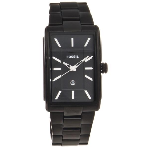 Fossil Men's Black Stainless Steel Dress Watch