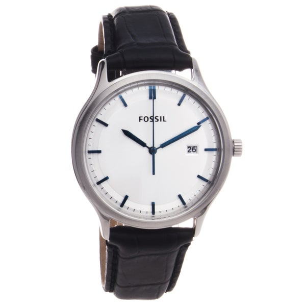 Fossil Men's Leather Strap Analog Watch