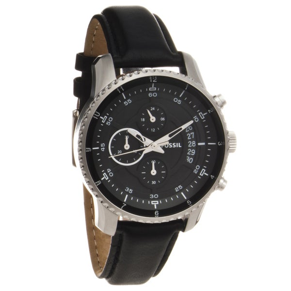 Fossil Men's Leather Strap Chronograph Watch