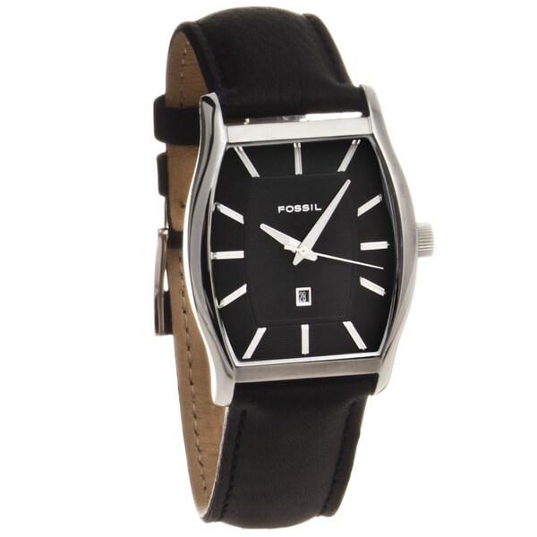 Fossil Men's Stainless Steel Tonneau Dress Watch