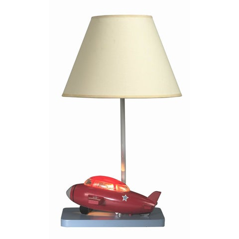 Cal Lighting Kids Bomber Plane Table Lamp
