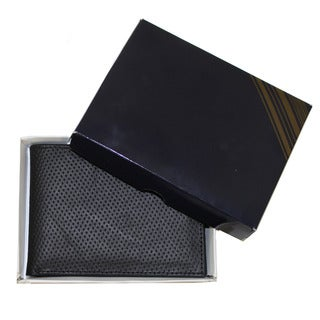 Artisan Handmade Fine Leather Bifold Wallet (Ecuador) (Option: Black)