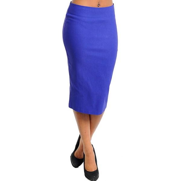 Stanzino Women's Zippered Pencil Skirt