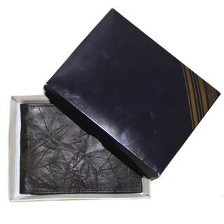 Handmade Artisan Handmade Wrinkle Leather Bifold Wallet (Ecuador)