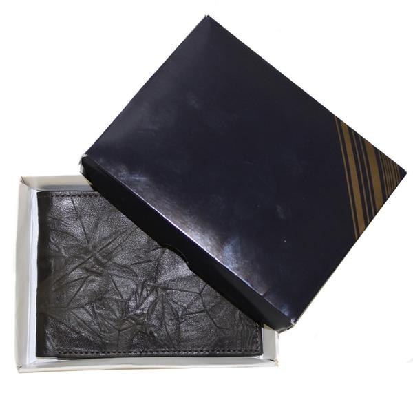 Artisan Handmade Wrinkle Leather Bifold Wallet (Ecuador)