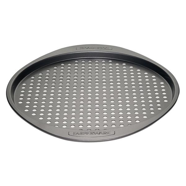 Farberware Nonstick Bakeware 13-inch Grey Round Pizza Crisper