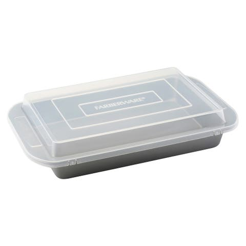Farberware Nonstick Bakeware 9 x 13-inch Grey Covered Rectangular Cake Pan