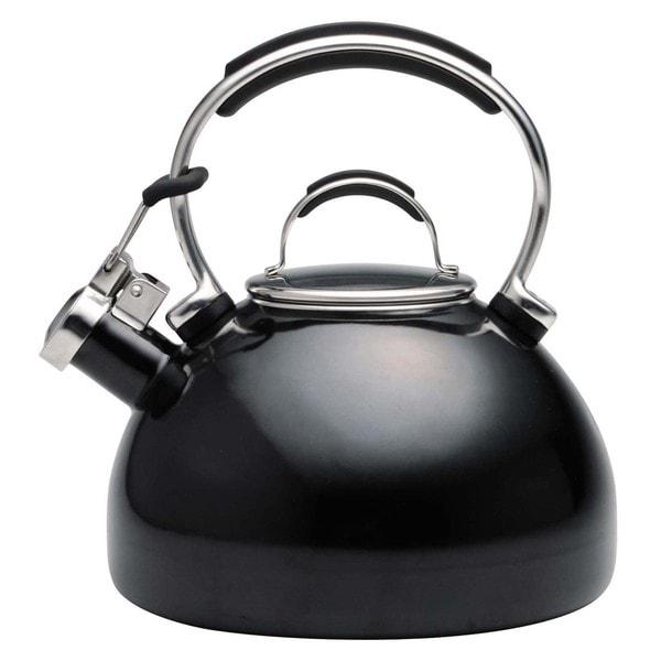 KitchenAid Black Porcelain Enameled Whistling 2-quart Tea Kettle
