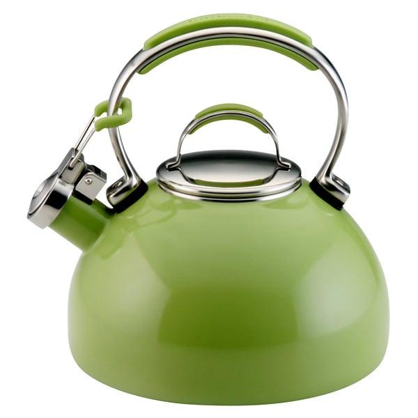 Shop KitchenAid Green Apple Porcelain Whistling 2-quart Tea Kettle on cartoon tea kettle, alessi tea kettle, all-clad tea kettle, cuisinart tea kettle, chantal tea kettle, imperial tea kettle, mikasa tea kettle, soft whistle tea kettle, jcpenney tea kettle, pfaltzgraff tea kettle, kenwood tea kettle, ge tea kettle, lodge tea kettle, apple tea kettle, gibson tea kettle, wolf tea kettle, pioneer tea kettle, paula deen tea kettle, dansk tea kettle, stove top tea kettle,