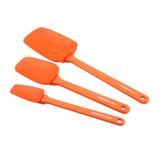 Rachael Ray Tools and Gadgets 3-piece Orange Silicone Spoonula Set