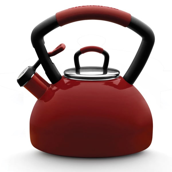 KitchenAid 51632 Red Porcelain Enamel 2.25-quart Tea Kettle