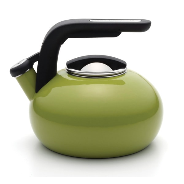 KitchenAid Green Apple Porcelain Enameled Whistling 1.5-quart Tea Kettle