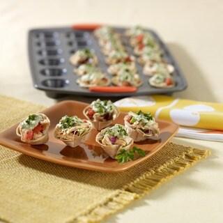 Rachael Ray Bakeware Oven Lovin' Mini Cups 24-cup Mini Muffin Pan