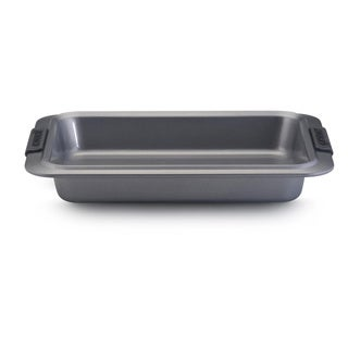 Anolon Advanced Nonstick Bakeware 9 x 13-inch Grey with Silicone Grips Rectangular Cake Pan