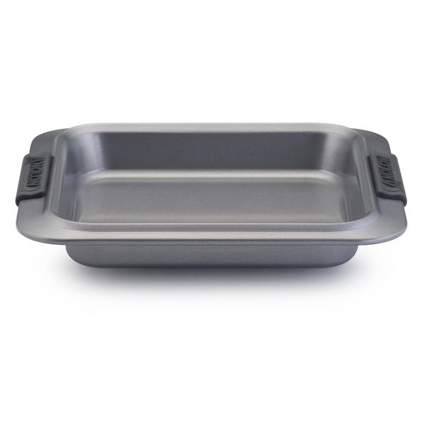 Anolon Advanced Nonstick Bakeware 9-inch Grey with Silicone Grips Square Cake Pan