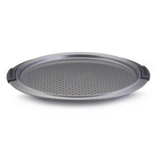 Anolon Advanced Nonstick Bakeware 13-inch Grey with Silicone Grips Pizza Crisper