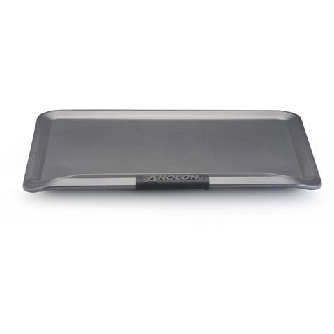 Anolon Advanced Nonstick Bakeware 14 x 16-inch Grey with Silicone Grips Cookie Sheet