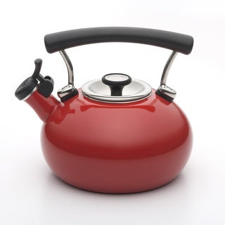 Circulon 2-quart Red Contempo Teakettle