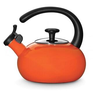 Rachael Ray Orange Porcelain Enameled 1.5-quart Tea Kettle
