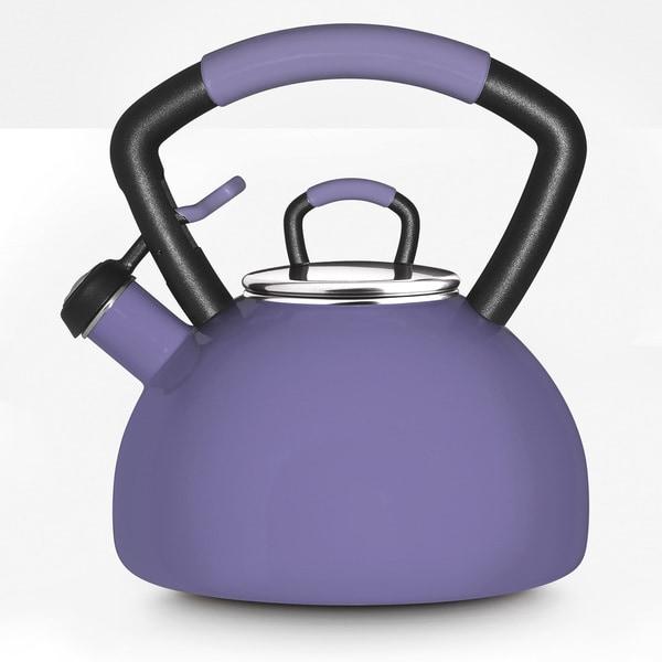 KitchenAid Lilac Porcelain Enamel Whistling 2.25-quart Tea Kettle