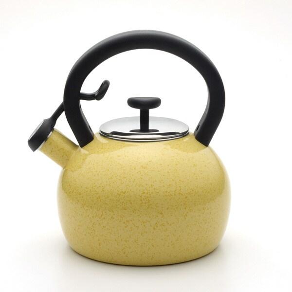 Paula Deen Signature Speckled Butter Yellow 2-quart Tea Kettle