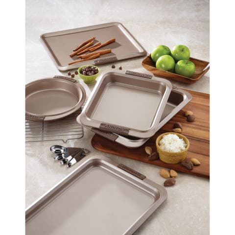 Anolon Advanced Bronze Nonstick Bakeware 9 x 13-inch Cake Pan with Silicone Grips