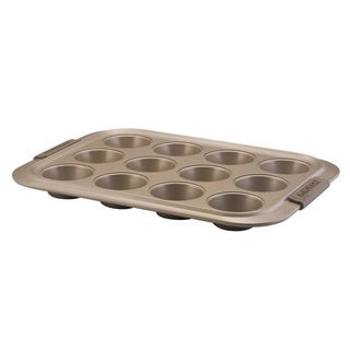 Anolon Advanced Bronze Nonstick Bakeware 12-cup Muffin Pan with Silicone Grips