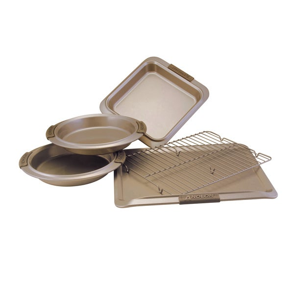 Anolon Advanced Bronze Nonstick Bakeware 5 Piece Bakeware