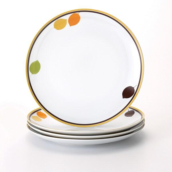 Rachael Ray Dinnerware Little Hoot 4-piece Dinner Plate Set 10.5-inches