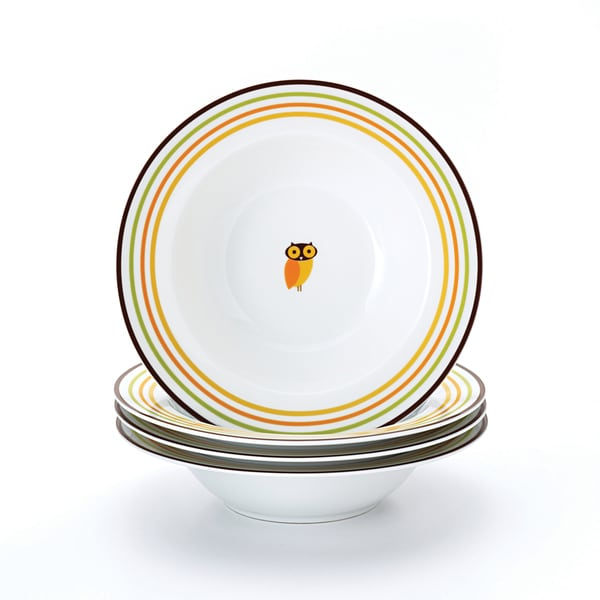 Rachael Ray 'Little Hoot' 4-piece Pasta Bowl Dinnerware Set