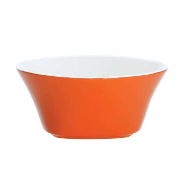 Rachael Ray Dinnerware Round and Square 4-piece Cereal Bowl Set 6-inch, Orange