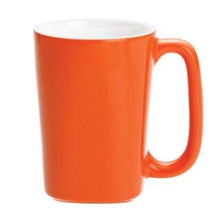 Rachael Ray Dinnerware Round and Square 4-piece Mug Set 14-ounce, Orange