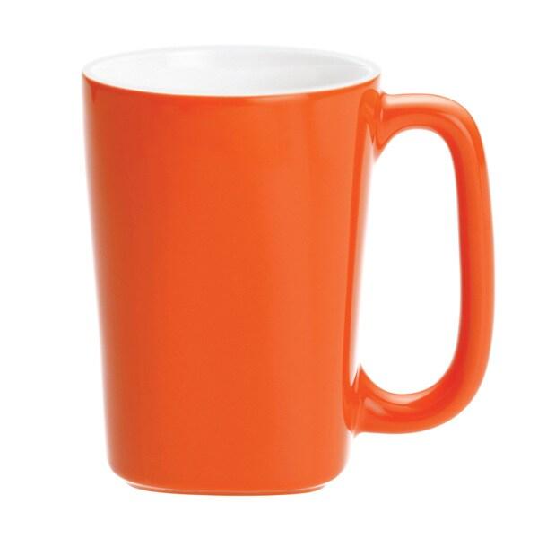 Rachael Ray Dinnerware Round And Square 4 Piece Mug Set 14 Ounce Orange