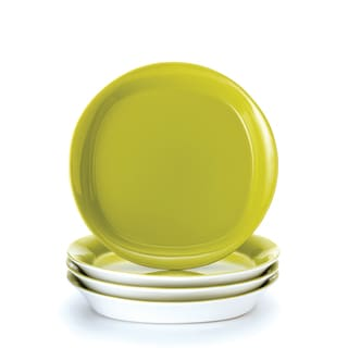 Rachael Ray \u0027Round and Square\u0027 4-piece Green Apple Salad Plate Set  sc 1 st  Overstock.com & Green Plates For Less | Overstock.com