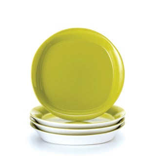Rachael Ray 'Round and Square' 4-piece Green Apple Salad Plate Set