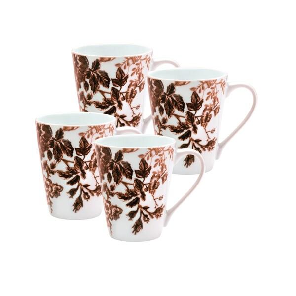 Paula Deen Tatnall Street Coffee Bean 11-ounce Mugs (Set of 4)