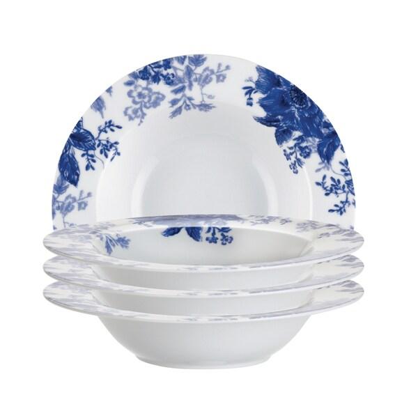Paula Deen Tatnall Street Blue Bell 8.5-inch Soup Bowls (Set of 4)