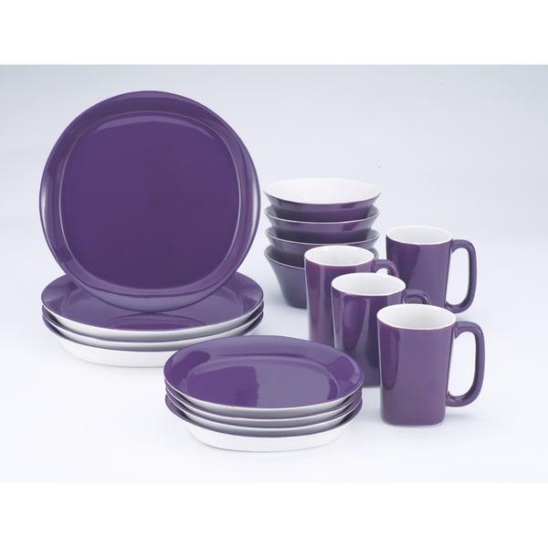 Rachael Ray Round & Square Purple 16-piece Set