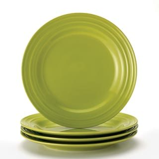 Rachael Ray Double Ridge 11 Inch Green Dinner Plates Set