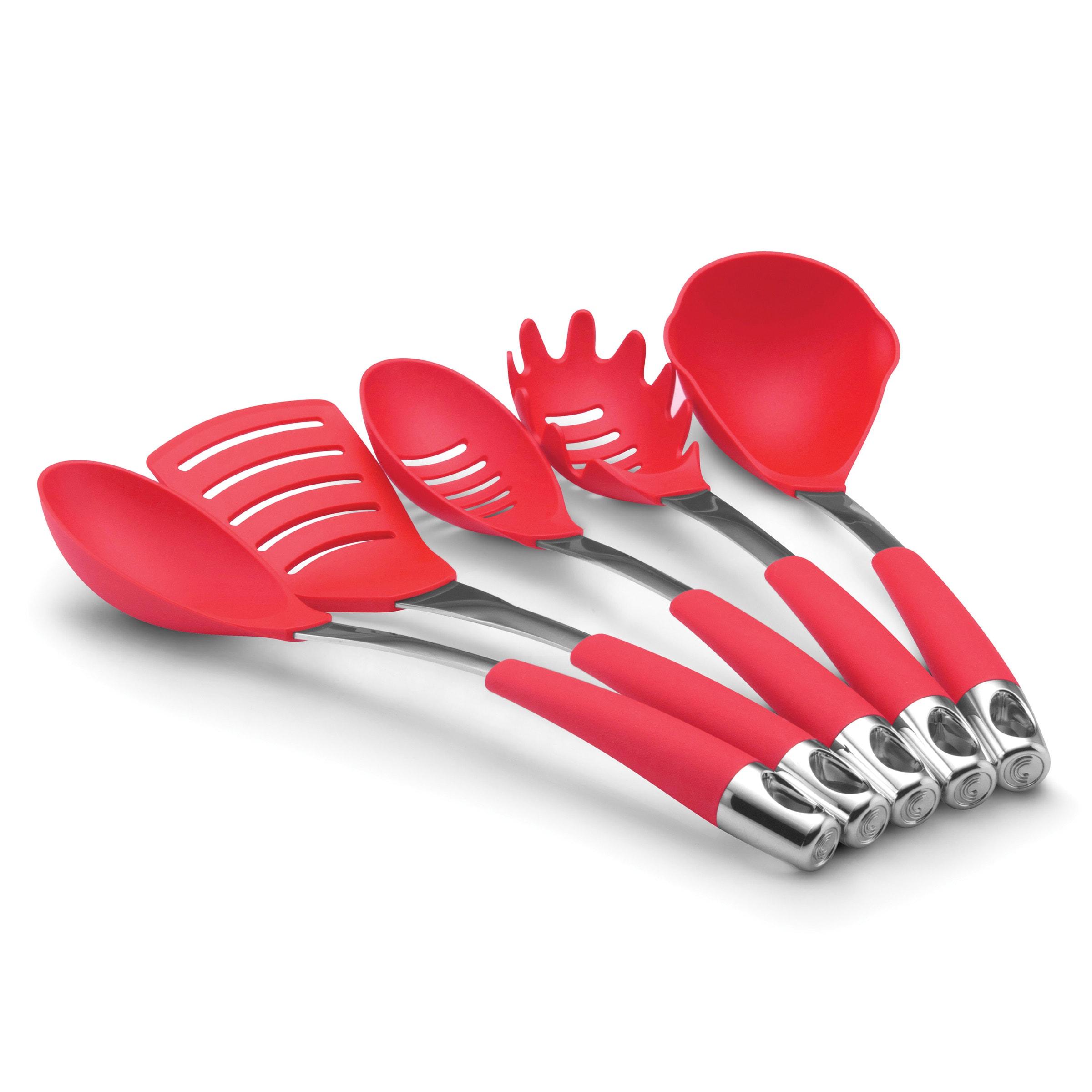 Circulon Red Five-piece Kitchen Utensil Set