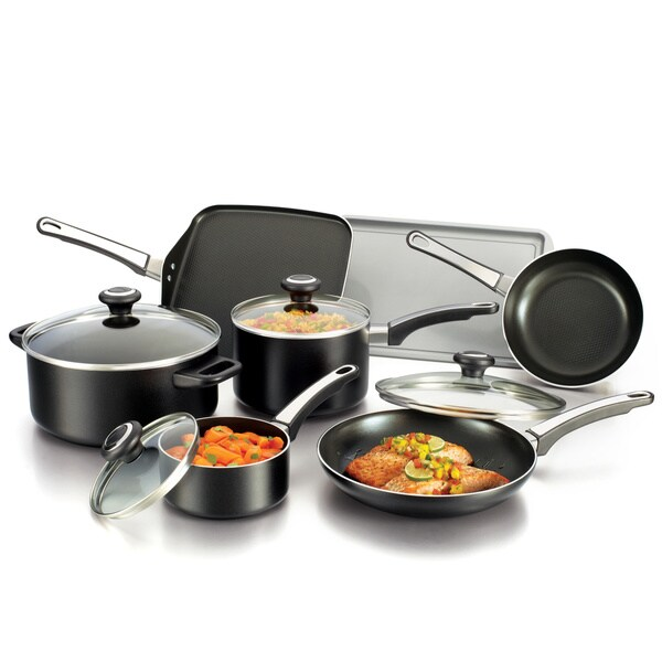 Farberware High Performance Nonstick 12-piece Black Set