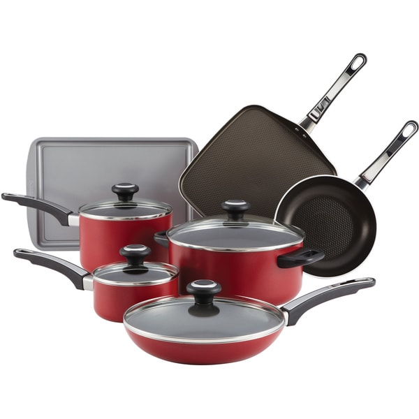Farberware High Performance Red Nonstick 12-piece Set