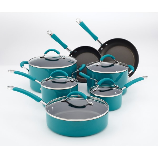 Kitchenaid peacock 12 piece cookware set 14916742 overstock com