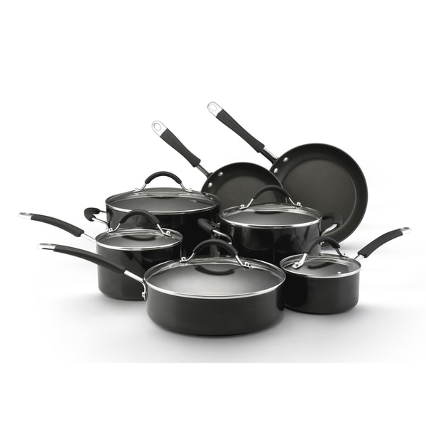 KitchenAid Black Porcelain 7-piece Cookware Set