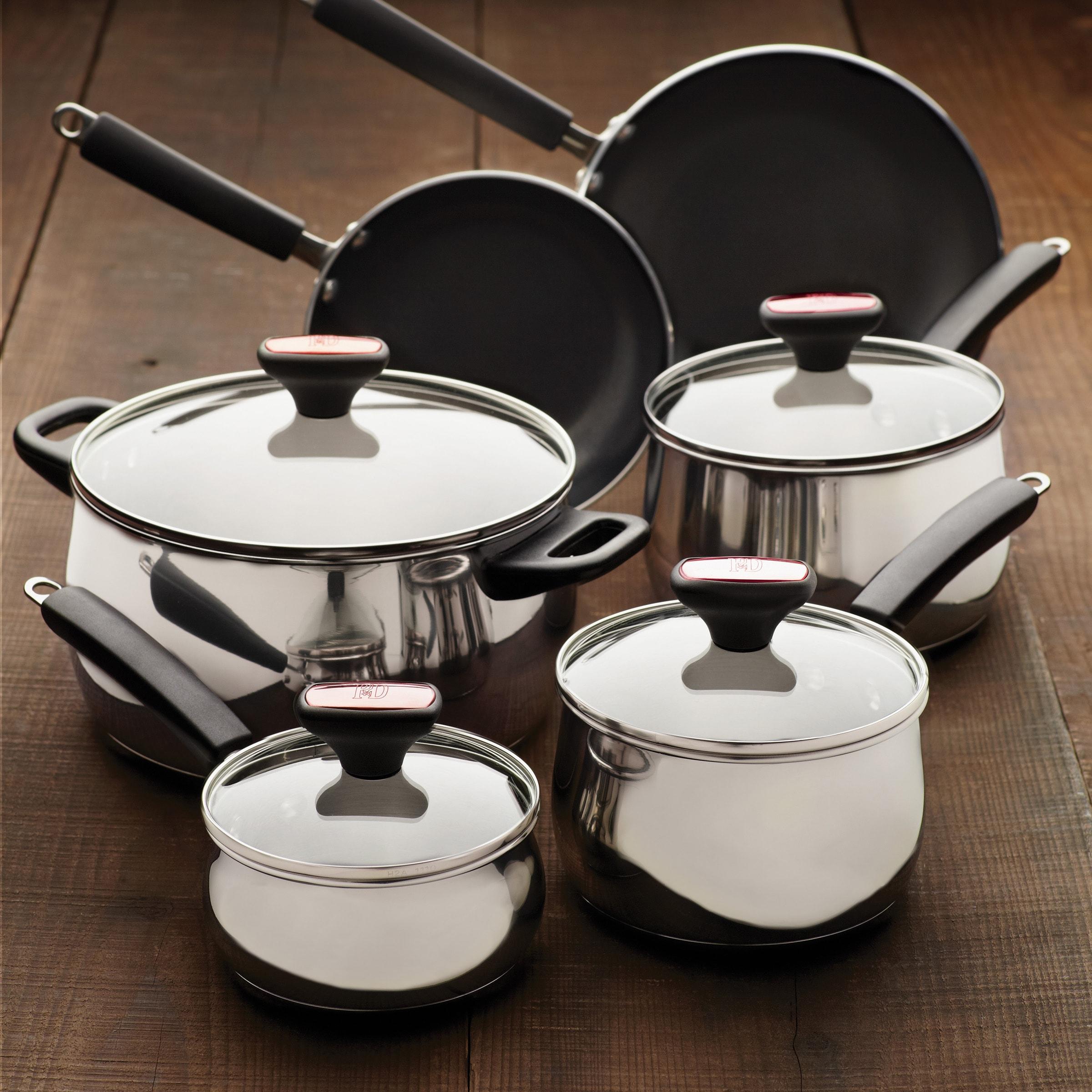 PAULA Deen Signature 12-piece Stainless Steel Cookware Se...