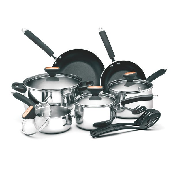 Paula Deen Signature 12-piece Stainless Steel Cookware Set